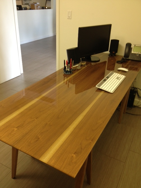 Satin Walnut 5_ Glass Top Table (1)