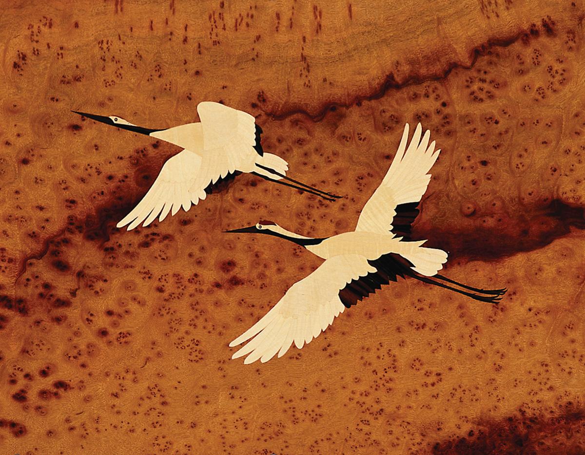 inlay---flying-cranes_8009832801_o